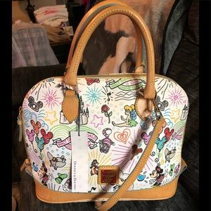 Dooney and Bourke Disney Sketch Zip Satchel